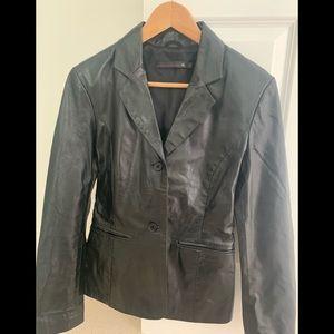 RK vintage leather blazer